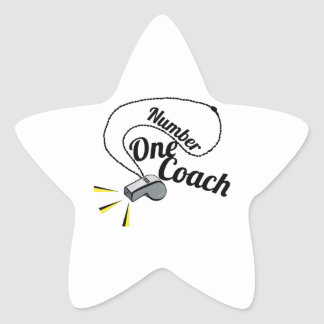 Number One Coach Star Stickers