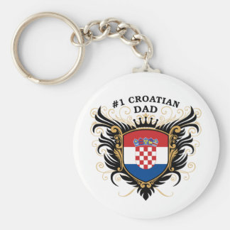 Number One Croatian Dad Key Ring