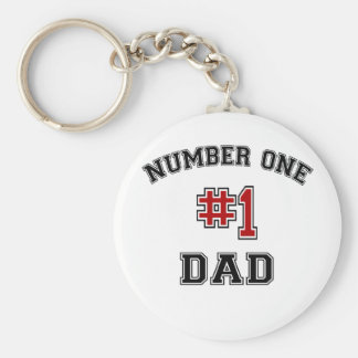 Number One Dad Basic Round Button Key Ring