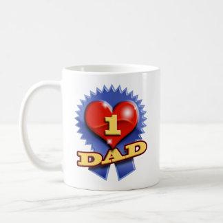Number One Dad Basic White Mug