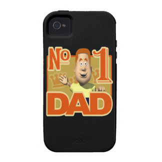 Number One Dad Vibe iPhone 4 Case