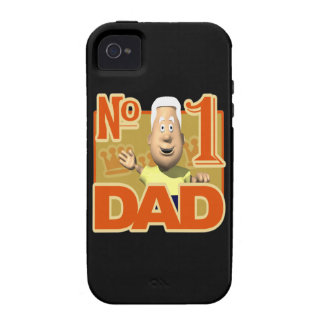 Number One Dad Vibe iPhone 4 Cases