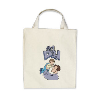 Number One Dad Father's Day Bag