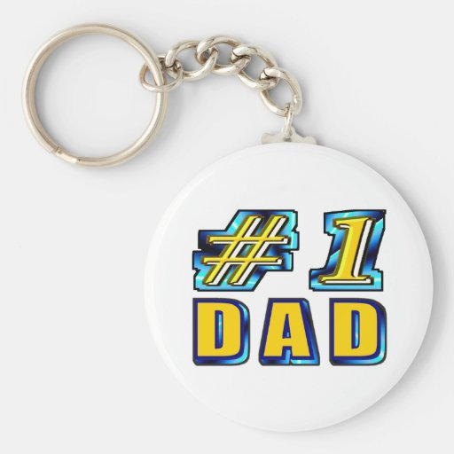 Number One Dad Keychains