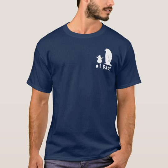 Number One Dad: Penguin and Chick T-Shirt