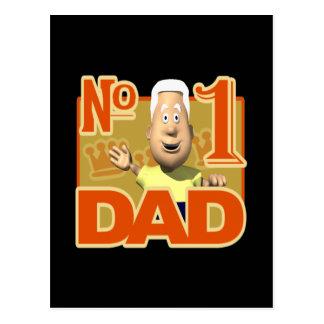 Number One Dad Postcard