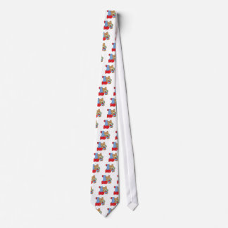 number one dad teddy bear design tie