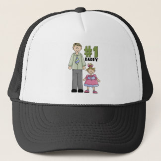 Number One Daddy Blond Girl  Trucker Hat