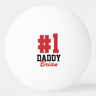 Number One Daddy Father's Day Ping Pong Balls