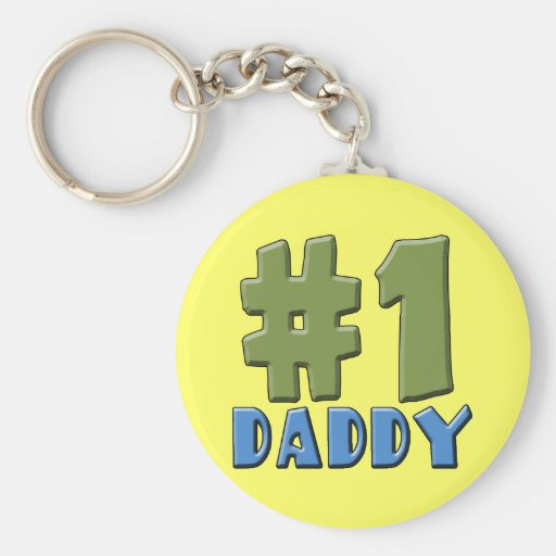 Number One Daddy Products Key Chain