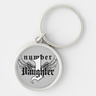Number One Daughter Key Chain