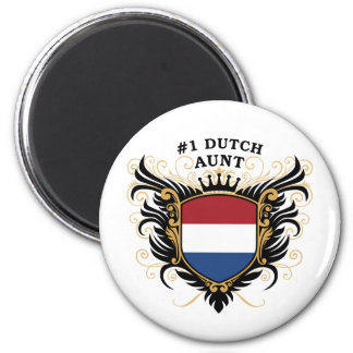 Number One Dutch Aunt 6 Cm Round Magnet