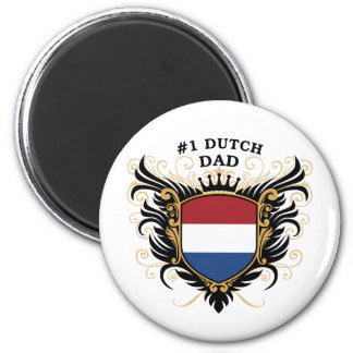 Number One Dutch Dad 6 Cm Round Magnet