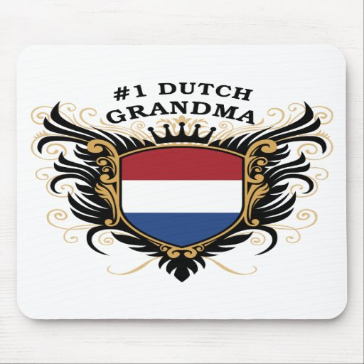 Number One Dutch Grandma Mouse Pads