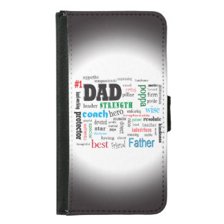 Number One Father Word Cloud Samsung Galaxy S5 Wallet Case