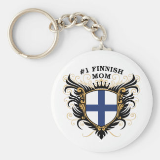 Number One Finnish Mom Key Chain