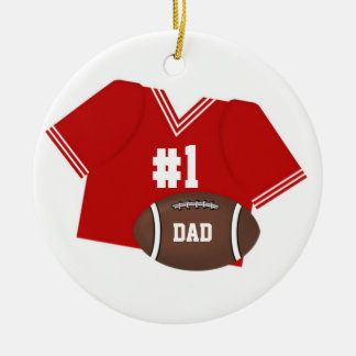 Number One Football Dad Ornament