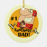 Number One Football Dad T-shirts and Gifts Ornament