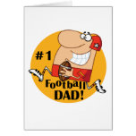 Number One Football Dad Tshirts and Gifts Greeting Card