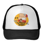 Number One Football Dad Tshirts and Gifts Trucker Hats