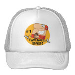 Number One Football Dad Tshirts and Gifts Mesh Hat