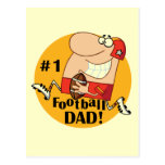 Number One Football Dad Tshirts and Gifts Postcard