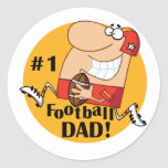 Number One Football Dad Tshirts and Gifts Stickers
