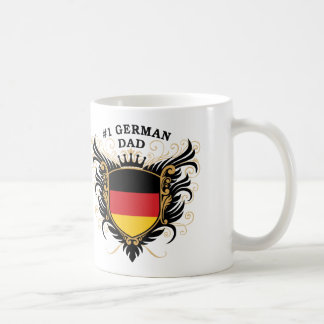 Number One German Dad Basic White Mug