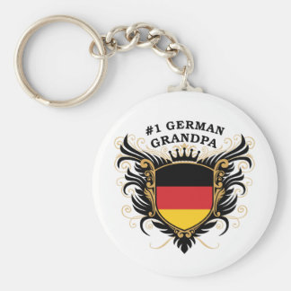 Number One German Grandpa Basic Round Button Key Ring