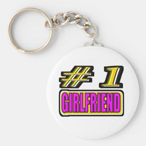Number One Girlfriend Keychains