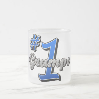 Number One Gramps Frosted Glass Mug