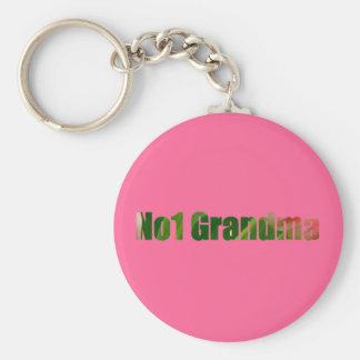 Number One Grandma Basic Round Button Key Ring