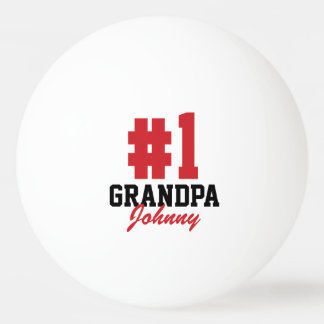 Number One Grandpa Father's Day Ping Pong Balls