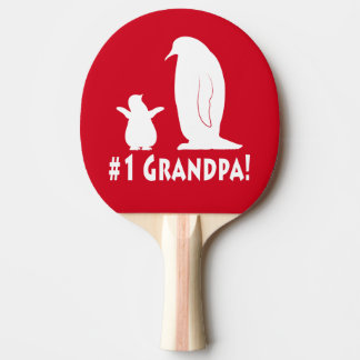 Number One Grandpa Ping Pong Racquet