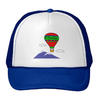 Number One Grandpa with Hot Air Balloon Cap