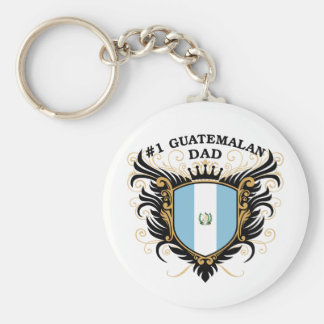 Number One Guatemalan Dad Basic Round Button Key Ring