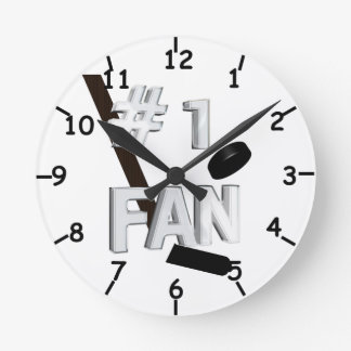 Number One Hockey Fan Clock