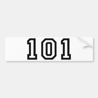 Number One Hundred and Two Bumper Sticker