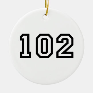 Number One Hundred and Two Christmas Ornament