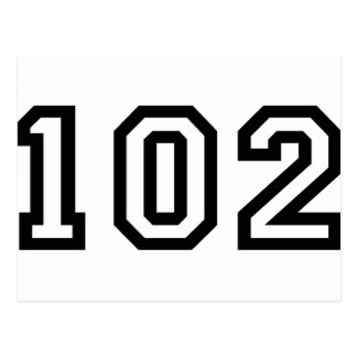 Number One Hundred and Two Postcard