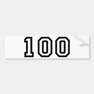 Number One Hundred Bumper Sticker