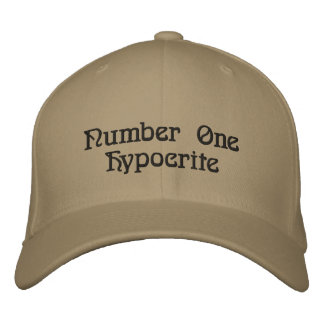 Number One Hypocrite Embroidered Cap