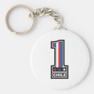 Number One In Chile Basic Round Button Key Ring
