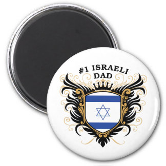 Number One Israeli Dad 6 Cm Round Magnet