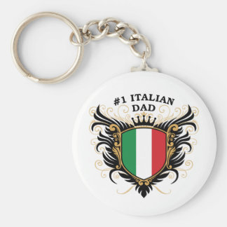 Number One Italian Dad Key Chain