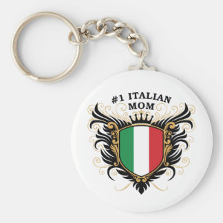 Number One Italian Mom Basic Round Button Key Ring