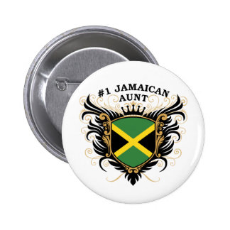 Number One Jamaican Aunt 6 Cm Round Badge