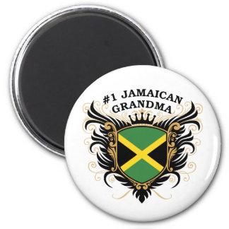 Number One Jamaican Grandma 6 Cm Round Magnet