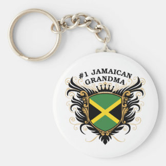 Number One Jamaican Grandma Basic Round Button Key Ring