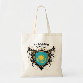 Number One Kazakh Uncle Tote Bags